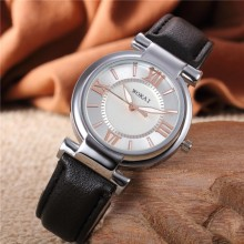 S&Y Fashion Women Roman Numeral Dials PU Leather Strap Watch