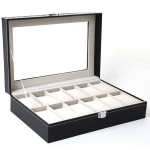 Luxury 12 Slots Watches Display Storage Case Watch Ane Jewellery Box Organiser