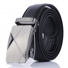 Luxury Men Formal Automatic Buckle Belt 3D Triangle