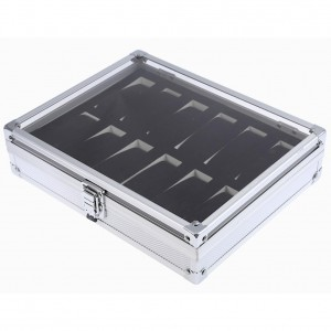 Luxury 12 Grid Slots Jewellery Aluminium Watches Display Storage