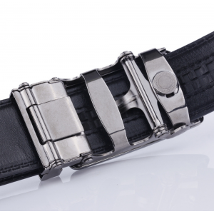 Luxury Men Formal Automatic Buckle Belt Curved Line Design