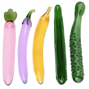Glass Pleasure Wand Masturbator Cucumber Dildo G Spot Stimulation Massager