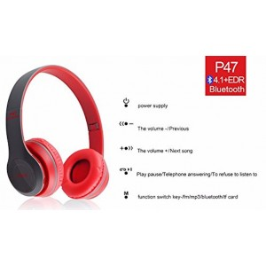 S&Y Wireless Foldable Stereo Headphones Headsets