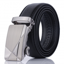 Luxury Men Formal Automatic Buckle Belt 3D Triangle Middle