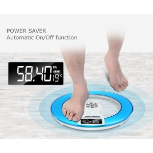 Digital LED Display Round Tempered Glass Electronic Body Weighing Scale