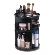Premium 360 Degree Rotating Make Up Tools And Cosmetics Organiser Black
