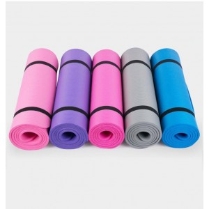Professional Gym Use Anti-Slip Yoga Mat Workout Mat 183cm With Strap