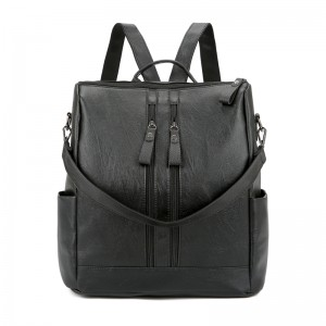 SANDY 2-Way Fashion Backpack Black Shoulder Bag