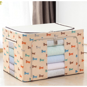 72L Extra Large Dual Opening Foldable Oxford Home Storage Box Organizer