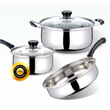 Premium Gift Set 5 in 1 Stainless Steel Cookware Set