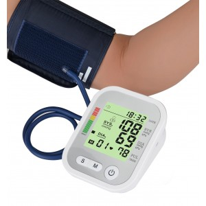 Home Use Digital Arm Blood Pressure Monitor Automatic Pulse Meter