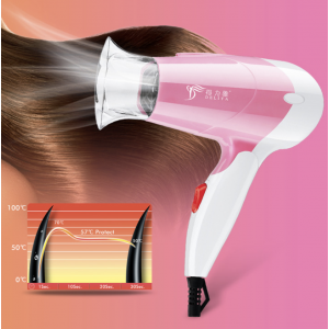 DLY-513 1200W Foldable Travel Hair Dryer with Cold Hot Air