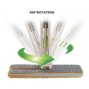 Self Wringing Lazy Mop Professional 360 Automatic Squeezee Microfiber Flip Mop