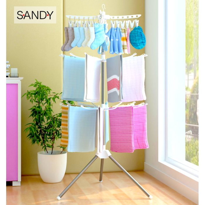 Sandy S Foldable Clothes Drying Rack Portable 3 Tier Laundry Hanging