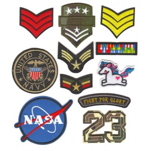 Sandy\'s Recommended Iron On Embroidered Patches Badges