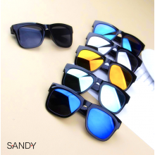 Sandy's Reflective Sunglasses One Piece UV400 Fashion Vintage Mirror