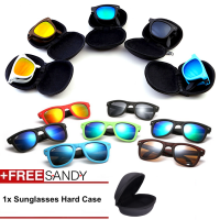 Foldable Reflective Fashion Sunglasses And Free Case UV400