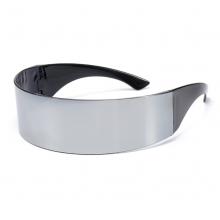 Futuristic Cyclops Reflective Mirrored Sunglasses Headband 2in1