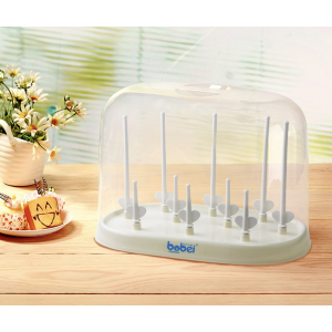 Sandy's Infant Baby Milk Bottle Drying Rack With Cover