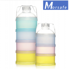MORSAFE 4 Tier BPA Free Portable Milk Powder Container Dispenser Storage