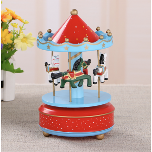 Sandy's Wooden Music Box Carousel