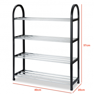 SANDYEASY DIY Assembly 4 Tier Shoes Rack