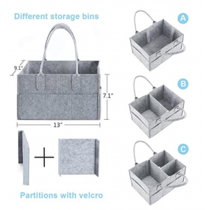Baby Diaper Caddy Organizer Nursery Organizer Insert Storage Bag