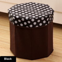 Sandy's Multipurpose Foldable Storage Box Stool Polka Dot