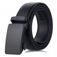 Luxury Men Formal Automatic Buckle Belt Elegant Matte Black