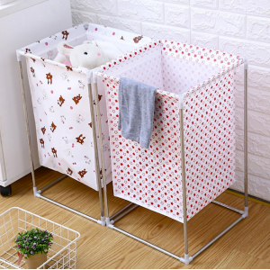 Multipurpose Waterproof Laundry Basket With Frame Children Toy Bin