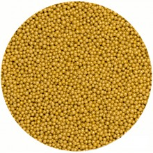 2mm Gold Edible Sugar Pearls Cake Decorating Sprinkles 30gram
