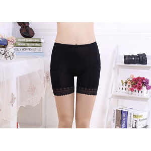 Safety Pants Lace Yoga Shorts Stretch Underwear with Pockets for Women Girls