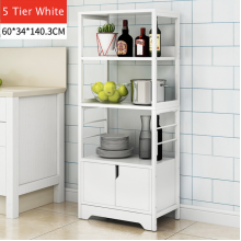 Sandy's 5 Tier Kitchen Rack With Shelf White