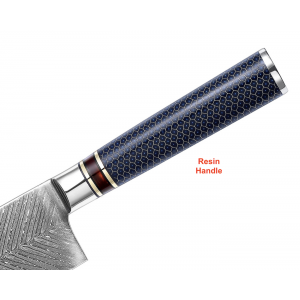 67 Layers Feather Damascus Kitchen Chef Knife With Resin Handle
