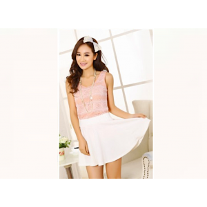 Korean Style Solid Color Versatile Round Mini Flare Skirt Thin Waist Band
