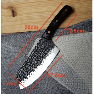 30cm Hammer Finished Wenge Hardwood Handle Kitchen Knife Chinese Cleaver 5cr15mov