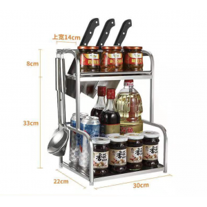 Stainless Steel 3 Tier Large Kitchen Rack Sauce Racks Condiment Racks Rak Dapur