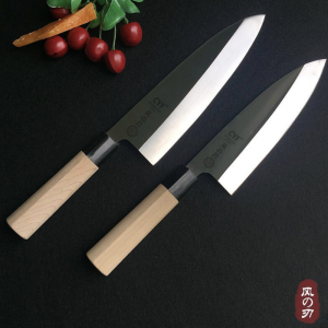 Japanese 210mm Deba Knife With White Maple Handle