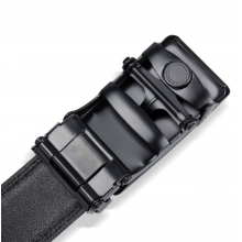 Elegant Black Cat Eye Pattern Automatic Buckle Belt