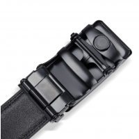 Plain Men Formal Automatic Buckle Belt Black