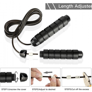 Jumping Rope Skipping Rope Tangle-Free With Ball Bearings And Memory Foam Handles Home Exercise